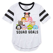Disney Collection Tsum Short-Sleeve Squad Goals Baseball Tee - Girls 7-16