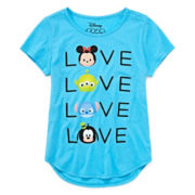 Disney Collection Tsum Short-Sleeve Love Tee - Girls 7-16