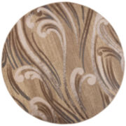 Donny Osmond Timeless by KAS Scrolls Round Rug