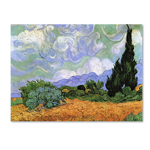 Wheatfield With Cypresses Canvas Wall Art