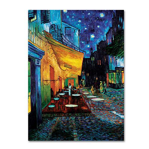 Café Terrace Canvas Wall Art