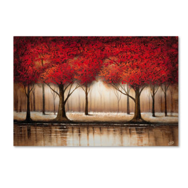 jcpenney.com | Parade of Red Trees Canvas Wall Art