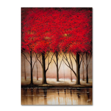 jcpenney.com | Serenade in Red Canvas Wall Art
