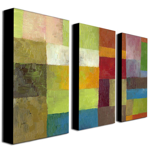 Abstract Color 3-Panel Canvas Wall Art