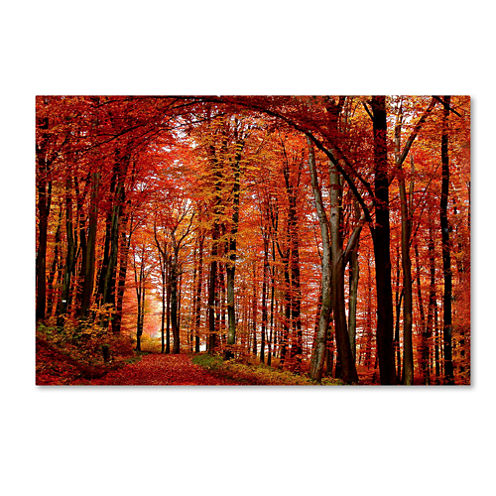 The Red Way Canvas Wall Art