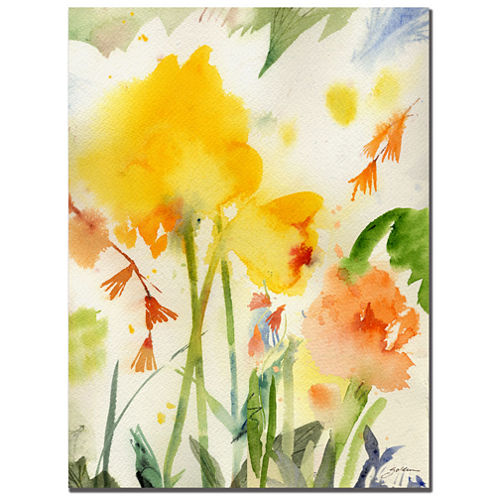 Garden Yellow Canvas Wall Art