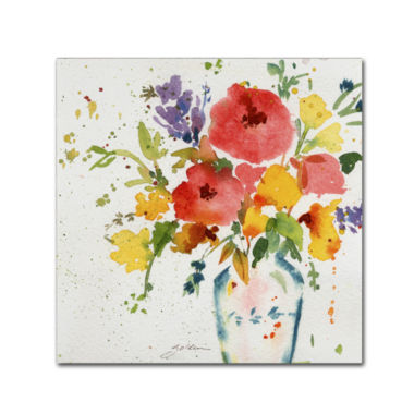 jcpenney.com | White Vase With Flowers Canvas Wall Art