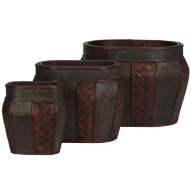 jcpenney.com | Nearly Natural Oval Decorative Planter Set Of 3