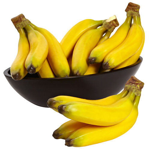 Nearly Natural Banana Bunch Set Of 4