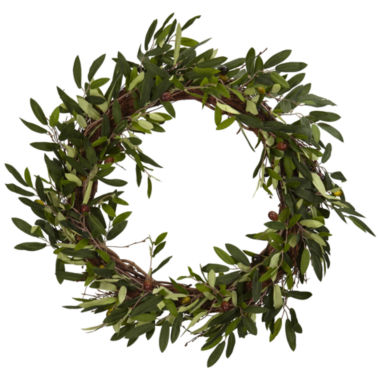 "jcpenney.com | Nearly Natural 20"" Olive Wreath"