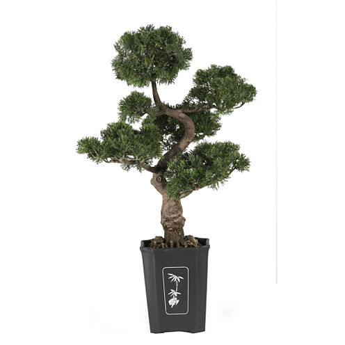 """Nearly Natural 36"""" Cedar Bonsai Silk Plant"""