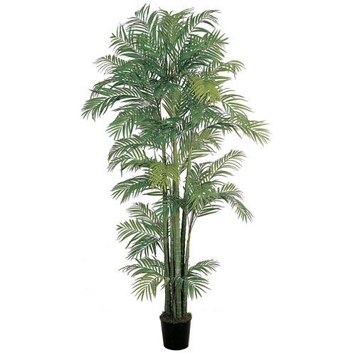 Nearly Natural 7-ft. Areca Silk Palm Tree