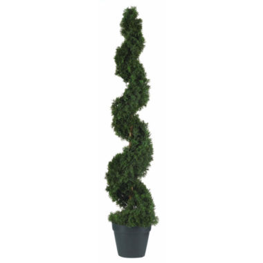 jcpenney.com | Nearly Natural 4-ft. Cedar Spiral Silk Tree