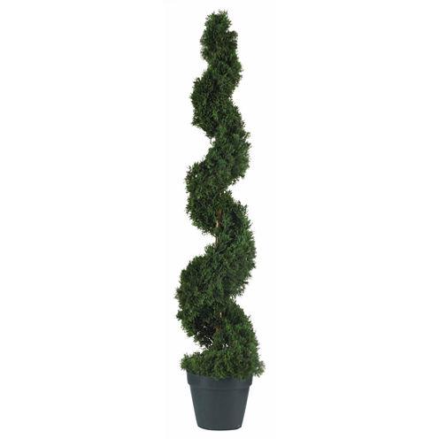 Nearly Natural 4-ft. Cedar Spiral Silk Tree