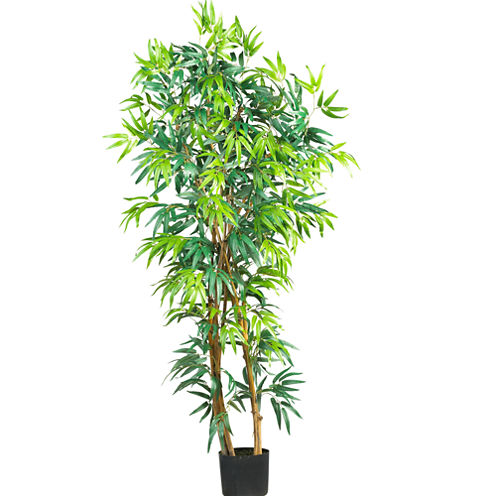 Nearly Natural Curved Bamboo Silk Tree