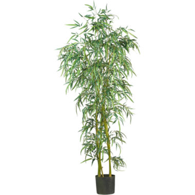 jcpenney.com | 6' Fancy-Style Slim Bamboo Silk Tree