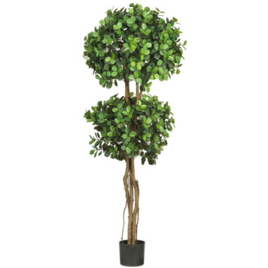 jcpenney.com | Nearly Natural 5.5-ft. Eucalyptus Double-Ball Topiary Silk Tree