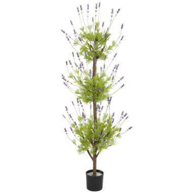 jcpenney.com | Nearly Natural 4-ft. Lavender Topiary Silk Tree