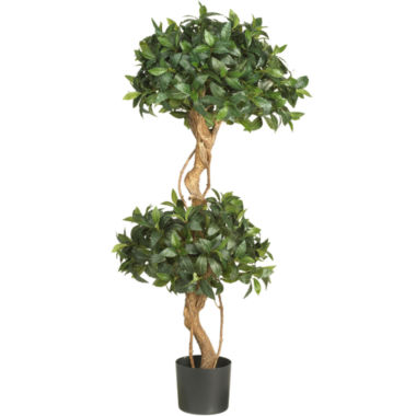 jcpenney.com | Nearly Natural 4' Sweet Bay Double Ball Topiary Silk Tree
