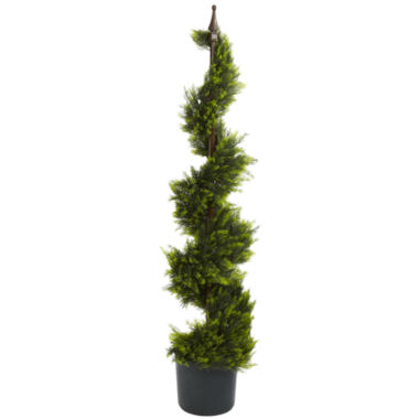 jcpenney.com | Nearly Natural 4-ft. Cypress Spiral Silk Tree