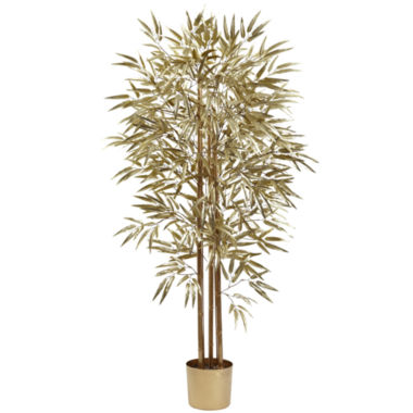 jcpenney.com | Nearly Natural 5-ft. Golden Bamboo Tree