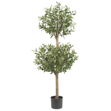 jcpenney.com | Nearly Natural 4.5-ft. Olive Double Topiary Silk Tree