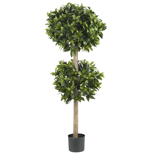 """Nearly Natural 57"""" Sweet Bay Double Ball Topiary Silk Tree"""