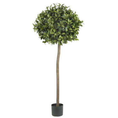 jcpenney.com | Nearly Natural 5-ft. Sweet Bay Ball Topiary Silk Tree