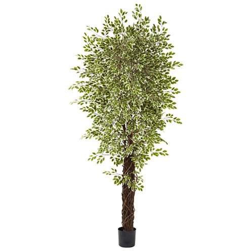Nearly Natural 7.5-ft. Variegated Mini Ficus Tree