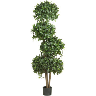 "jcpenney.com | Nearly Natural 69"" Sweet Bay Topiary Silk Tree with 4 Balls"