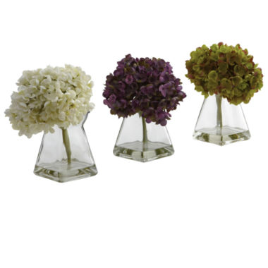 jcpenney.com | Nearly Natural Hydrangea With Vase Set Of 3