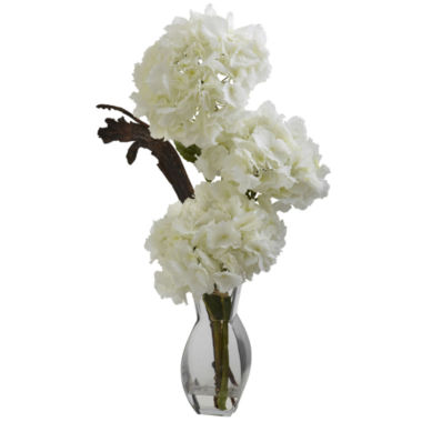 jcpenney.com | Nearly Natural Triple Hydrangea With Vase