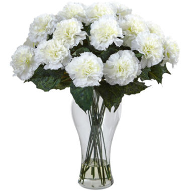 jcpenney.com | Nearly Natural Carnation Arrangement With Vase
