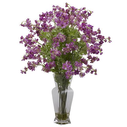 Nearly Natural Dancing Daisy Silk Flower Arrangement