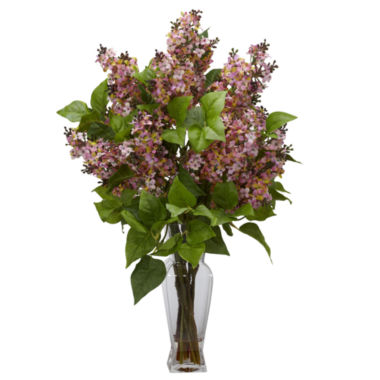 jcpenney.com | Nearly Natural Lilac Silk Flower Arrangement