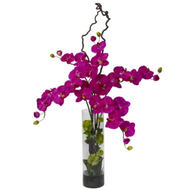 jcpenney.com | Nearly Natural Giant Phalaenopsis & Hydrangea Silk Flower Arrangement