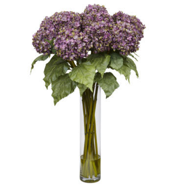 jcpenney.com | Nearly Natural Hydrangea Silk Flower Arrangement