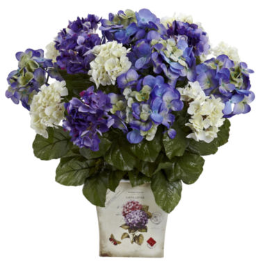 jcpenney.com | Nearly Natural Mixed Hydrangea With Floral Planter