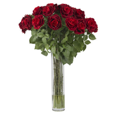 jcpenney.com | Nearly Natural Large Rose Silk Flower Arrangement