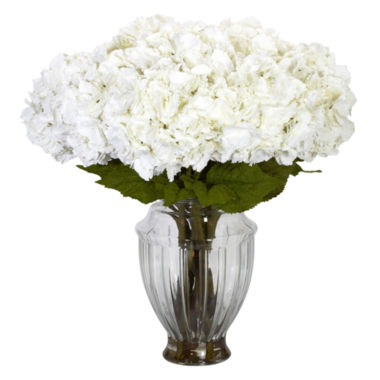 jcpenney.com | Nearly Natural Large Hydrangea With European Vase Silk Flower Arrangement