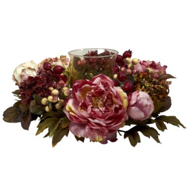 jcpenney.com | Nearly Natural Peony Hydrangea Candelabrum