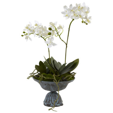 jcpenney.com | Nearly Natural Mini Dendrobium with Metal Vase