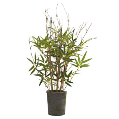 jcpenney.com | Nearly Natural 27 Bamboo Tree With Cement Pot
