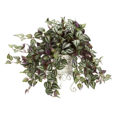 jcpenney.com | Nearly Natural Wandering Jew With Metal Planter Silk Plant