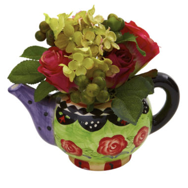 jcpenney.com | Nearly Natural Rose & Hydrangea With Decorative Vase