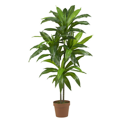 """Nearly Natural 48"""" Real-Touch Dracaena Silk Plant"""