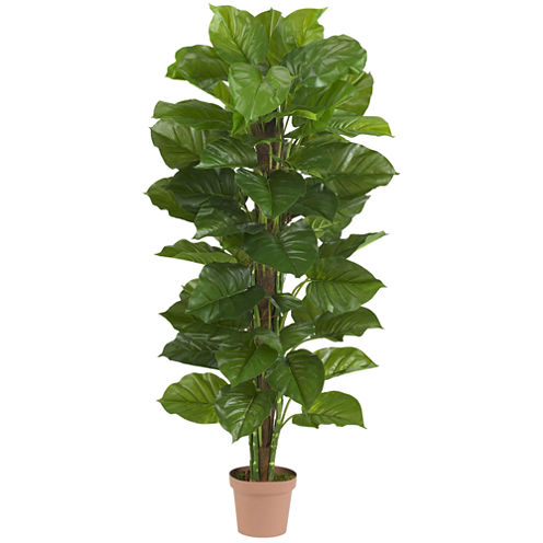 "Nearly Natural 63"" Large-Leaf Real-Touch Philodendron Silk Plant"