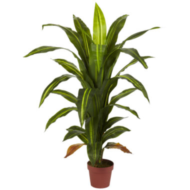jcpenney.com | Nearly Natural 4-ft. Dracaena Silk Plant - Real Touch