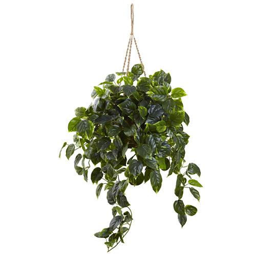 Nearly Natural UV-Resistant Indoor/Outdoor Pothos Hanging Basket