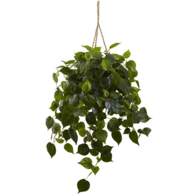 jcpenney.com | Nearly Natural UV-Resistant Indoor/Outdoor Philodendron Hanging Basket